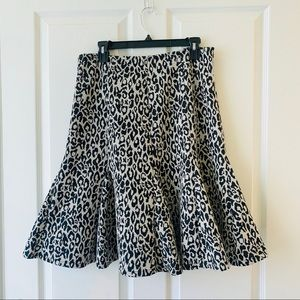 Marisa Christina leopard cheetah print skirt 10